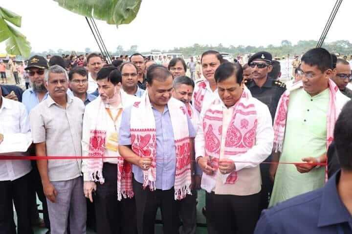 মাজুলীত সৰ্বানন্দ সোণোৱালে উদ্বোধন কৰিলে অত্যাধুনিক ৰ'ৰ' সেৱা
