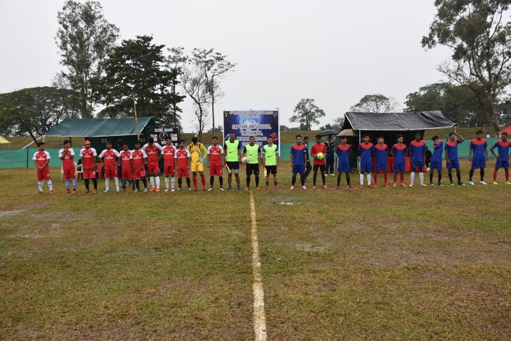 জিন্টু গগৈ স্মাৰক ফুটবল প্ৰতিযোগিতাত পৰাস্ত ডিব্ৰুগড় বিশ্ববিদ্যালয়