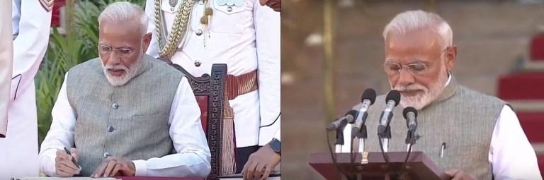 ৰাষ্ট্ৰপতি ভৱনত দ্বিতীয় বাৰলৈ প্ৰধানমন্ত্ৰী হিছাপে শপত ল'লে নৰেন্দ্ৰ মোডীয়ে
