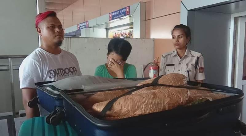 গুৱাহাটী ৰেল ষ্টেচনত ৪৫ কেজি গাঞ্জা জব্দ
